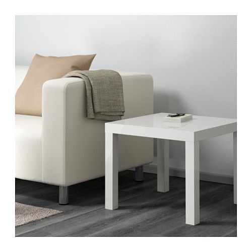 LACK Side table, high-gloss white high-gloss white 55x55 cm