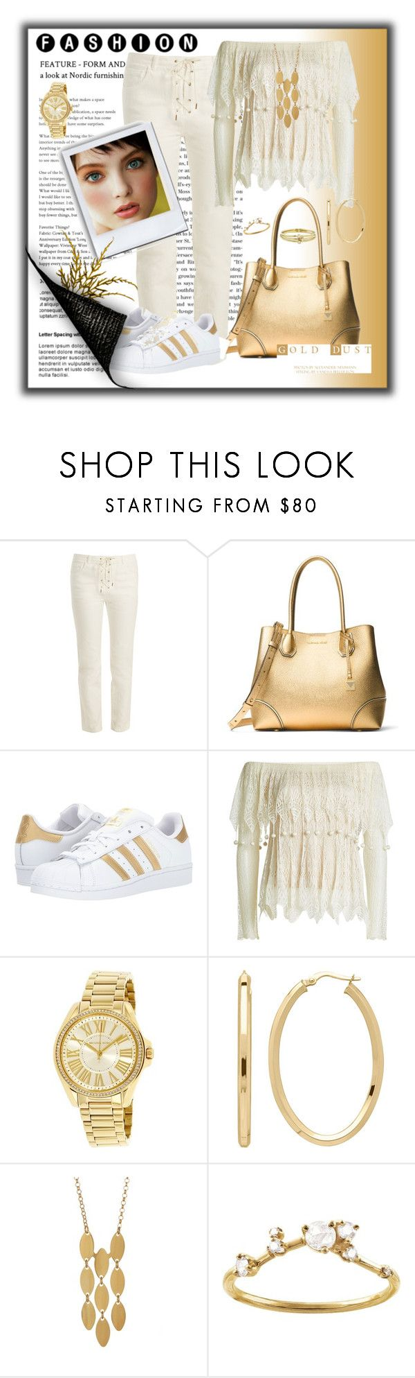 """""""Midas Touch"""" by ohlmanvickie ❤ liked on Polyvore featuring Chloé, MICHAEL Michael Kors, adidas Originals, Alexander McQueen, Michael Kors, Everlasting Gold, Argento Vivo, WWAKE and Jennifer Meyer Jewelry"""