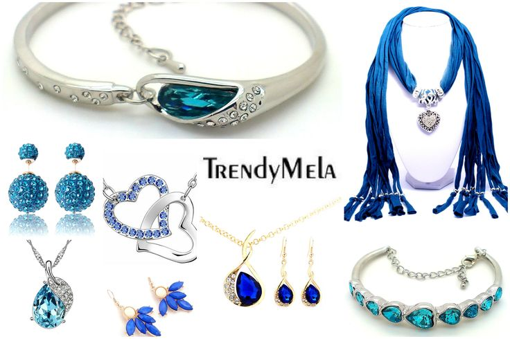Collection Of Blue Fashion Jewellery @ Trendymela.com