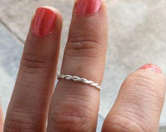 Conjunto de 3 anillos de plata esterlina por HomegrownSilverStone