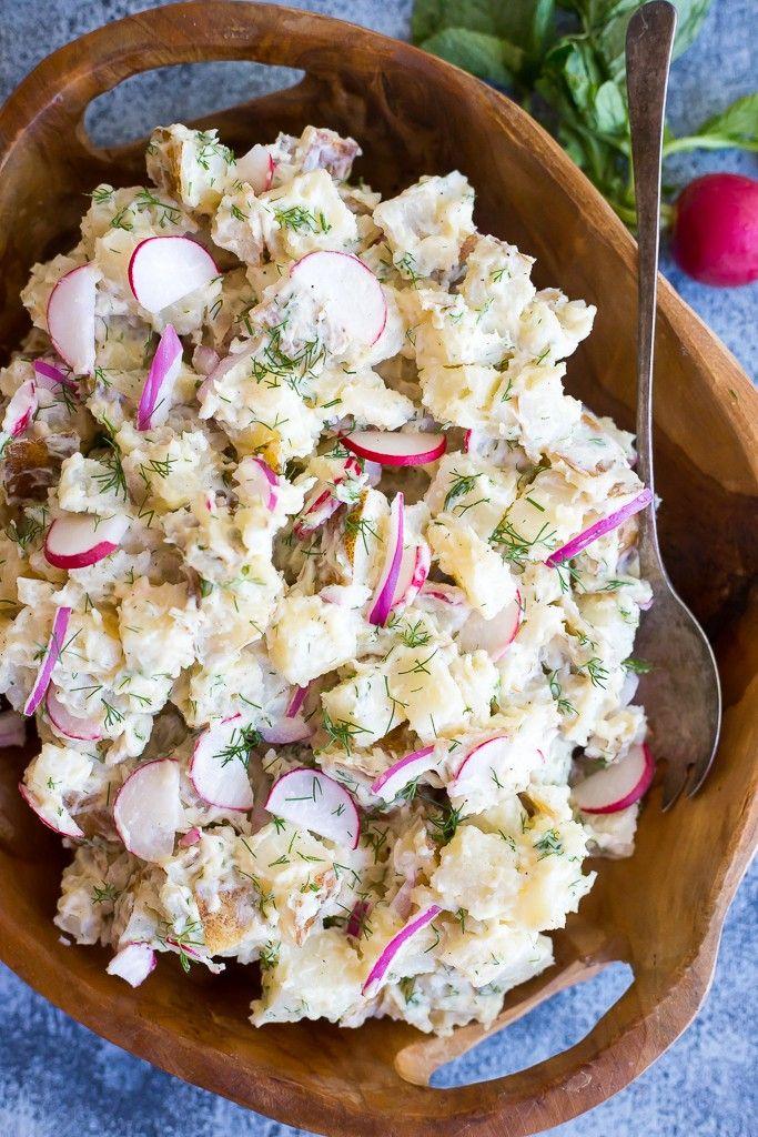 Salt and Vinegar Potato Salad by shelikesfood #Salad #Potato
