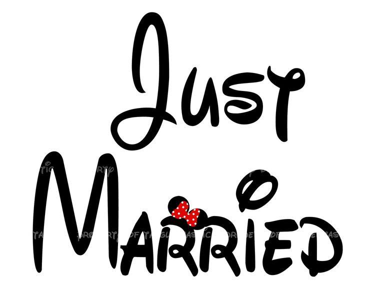 Another one for the honeymoon!! Just Married Bride Groom Fairytale DIY Iron Appliqué Wedding Disney Vacation mickey Mouse Shirt Tote Sweatshirt Disney Bride. $5.00, via Etsy.