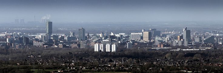 Manchester City Centre Skyline - from 9 miles