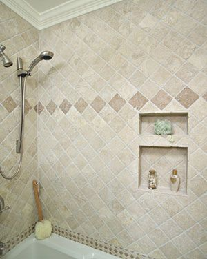 raleigh quality bathroom remodels 2 different sized niches