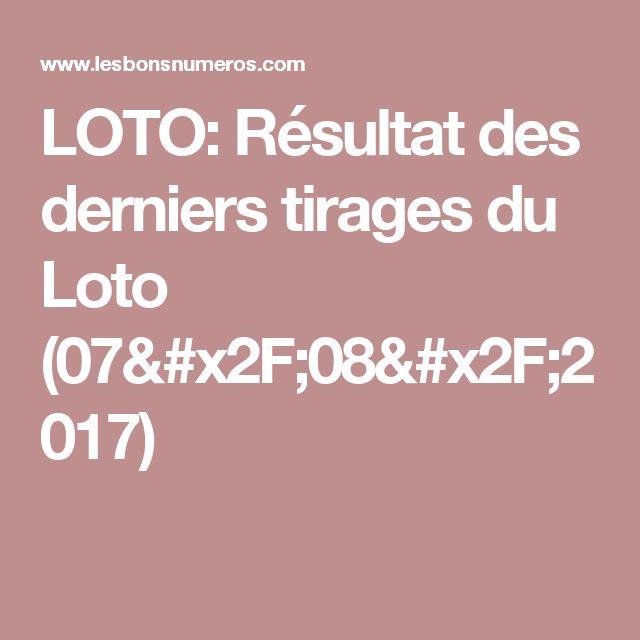 LOTO: Résultat des derniers tirages du Loto (07/08/2017)