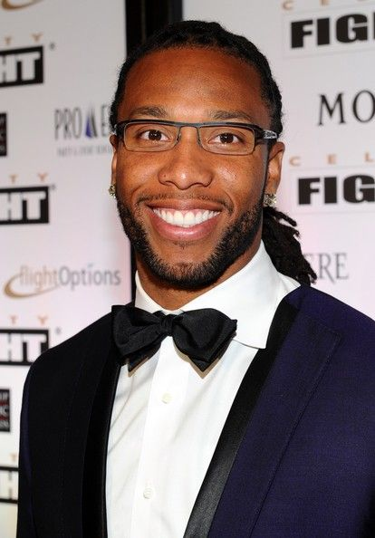 Larry Fitzgerald - Muhammad Ali's Celebrity Fight Night XIII - Red Carpet( I need a tissue! smile, ruggedly handsome..love!)