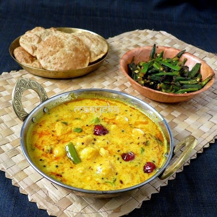 Maayeka - Authentic Indian Vegetarian Recipes: Dahi ke Aloo / Dahi wale Aloo