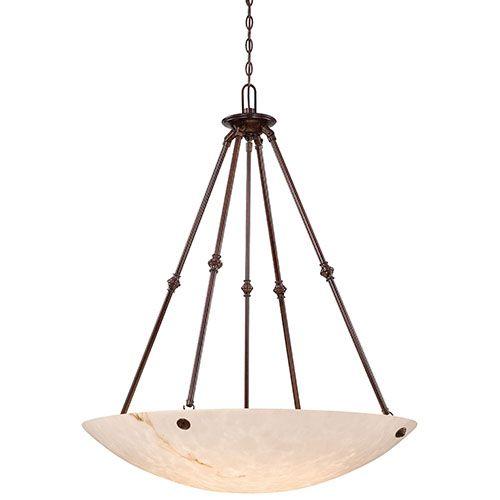 metropolitan lighting virtuoso ii bronze patina six light bowl pendant - Kchenbeleuchtung Layout