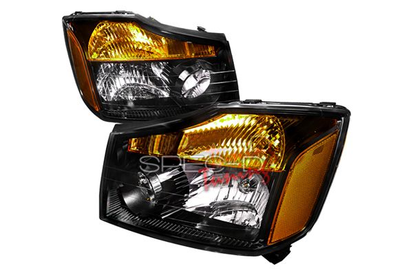 Nissan Titan 2008-2011 Black Euro Headlights