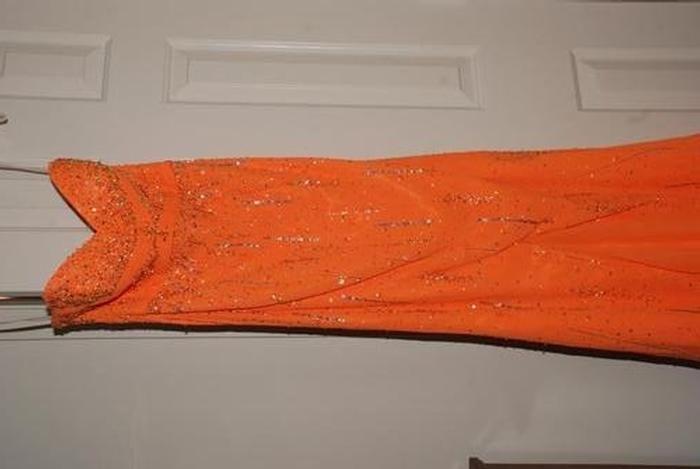 Pageant Resale :: Orange Sequin Dress