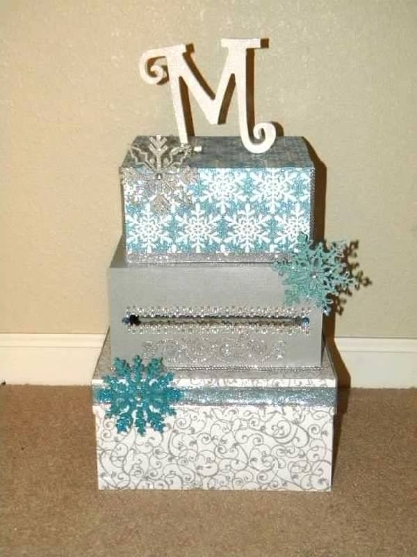 Made This For A Friends Sweet Money Card Box Winter Wonderland Theme