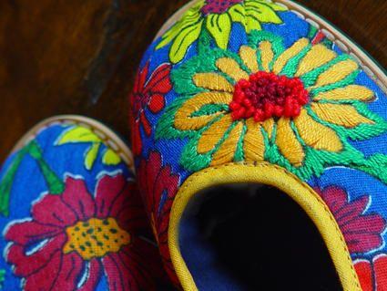 chita  bordada - slippers chita embroidery
