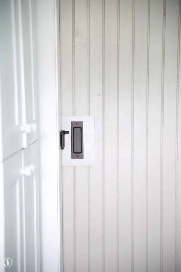 Bathroom Sliding Door Lock - How to add a lock to your barn door the handmade home