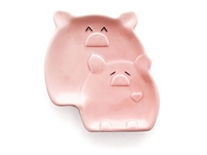 This Lil' Piggy Spoon Rest: Pink by Del Rey