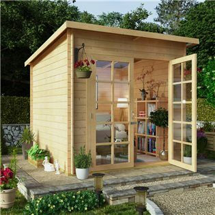 BillyOh Pent Log Cabin Summerhouse Range
