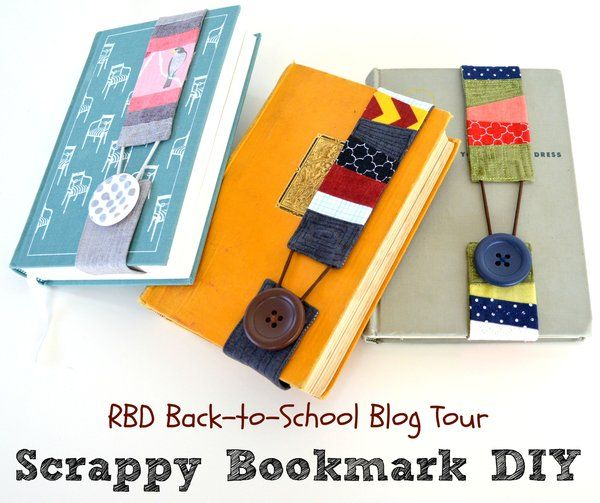 """Creating something practical AND using up your scrap pile is definitely a """"win-win"""". Try this cute Scrappy Bookmark DIY by Riley Blake Designs. -Sewtorial"""