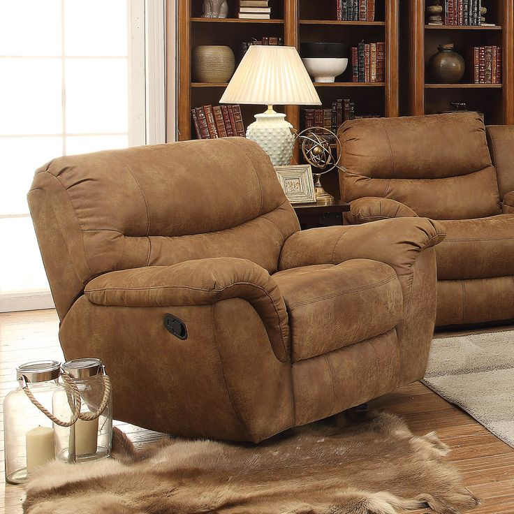 Coaster Company Tan Power Recline Glider Recliner Chair (Power Recliner) (Microfiber)
