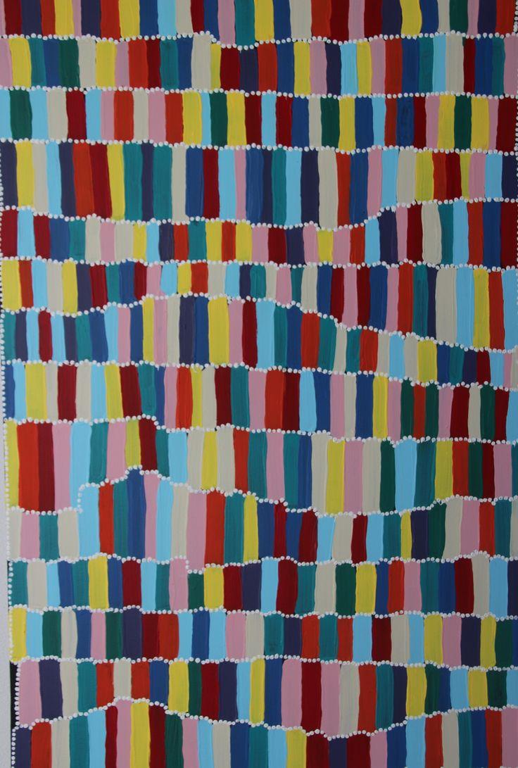 Colour Sticks. Gorgeous abstract acrylic on canvas 90cm x 60cm. $190
