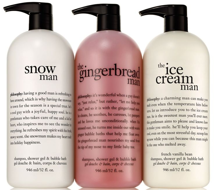 celebrate the most wonderful time of the year with these philosophy holiday shower gel favorites.
