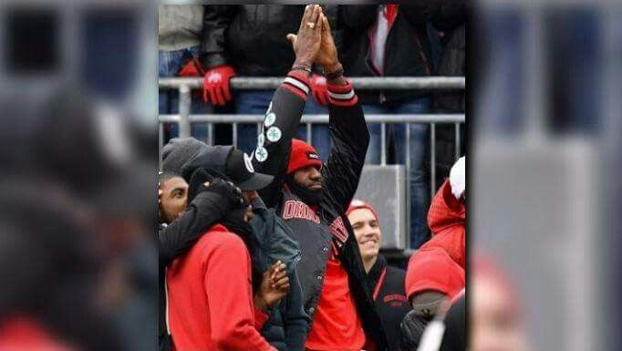 LeBron James. I have a sneaking feeling that if King James ever wants to go for a Business or Communications Degree it will be @Ohio State!