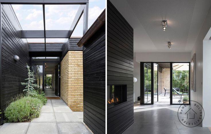 Indgang og forløb gennem hus til terrasse