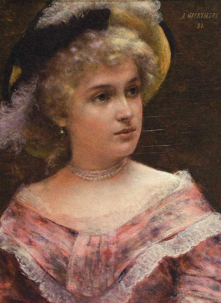 Lady rococo, Aleksander Gierymski, Polish painter, (1850-1910)