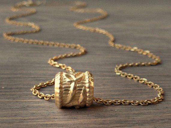 Gold dainty necklace Gold bead necklace Every day by SoCoolCharms, €22.08