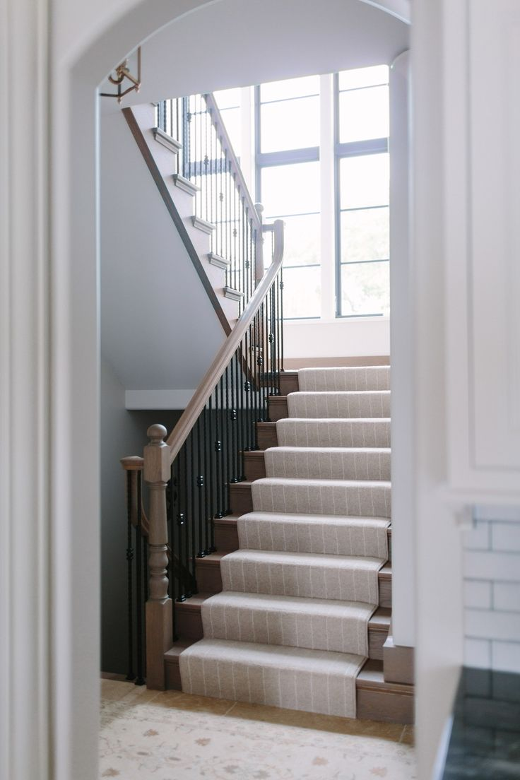 Navy greek key rug transitional entrance foyer libby langdon - Our Top Picks Stair Runners