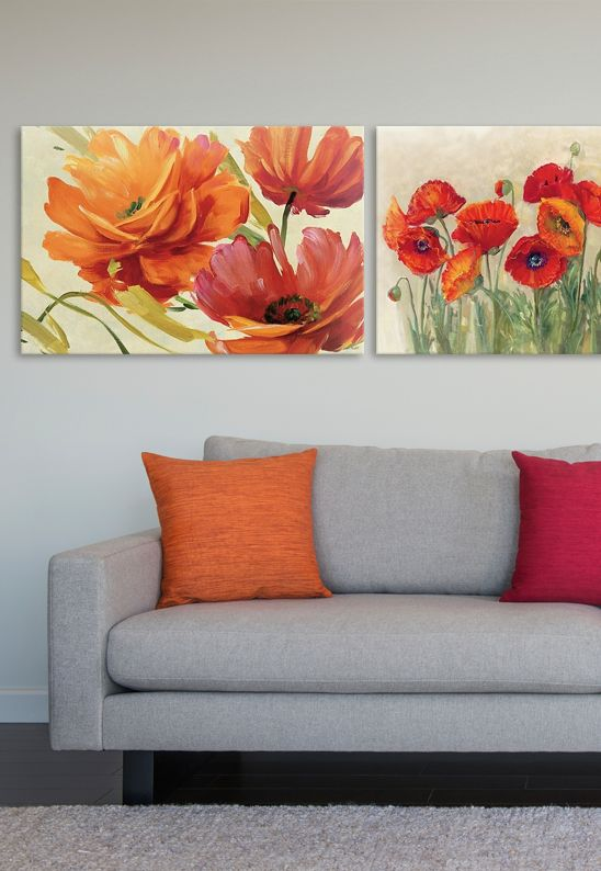 Lisa Audit and Carol Rowan's art melds together to showcase gorgeous contemporary floral designs that are both brilliant and inspiring. Perfect for an office, living room, or guest room.