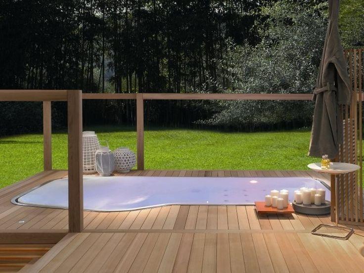 jacuzzi extrieur sur terrasse ou dans le jardin en photos spa encastrable extrieur