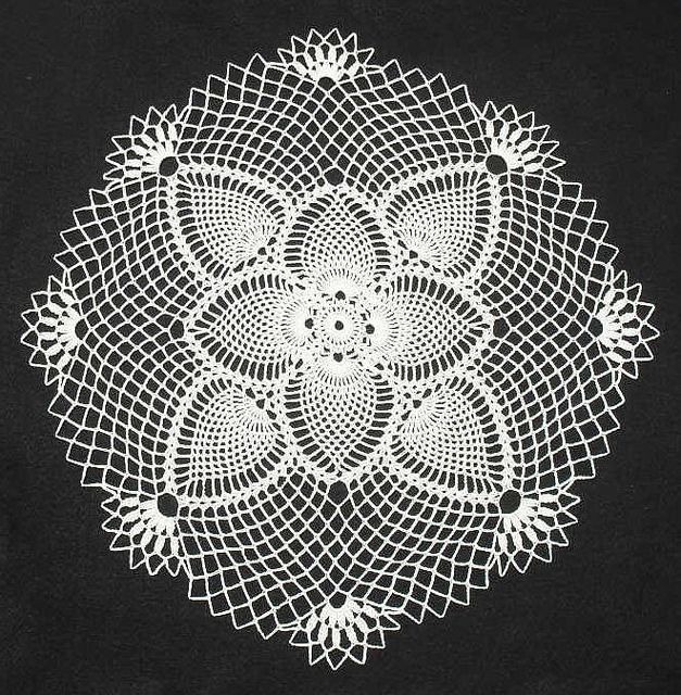 Pineapple Posy Doily #crochet doily #afs collection