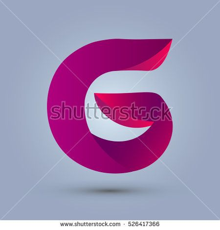 Letter G icon design and elegant typographic concept icon. gradient purple and red color