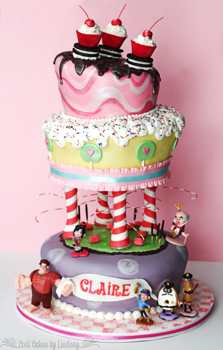 Sugar Rush Wreck it Ralph Cake!!! This is our daughter's 5th Birthday Cake by Cool Cakes by Lindsay!