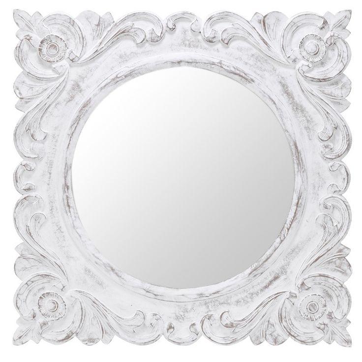 White Framed Square Mirror | o2 Pilates