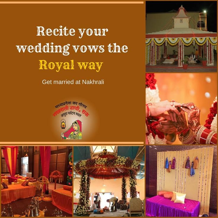 Get married totally stylish, totally royal!!   Amidst the Rajputana setting is where a royal wedding awaits you at Nakhrali Dhani, An ideal place for a #destination #wedding in #Indore.