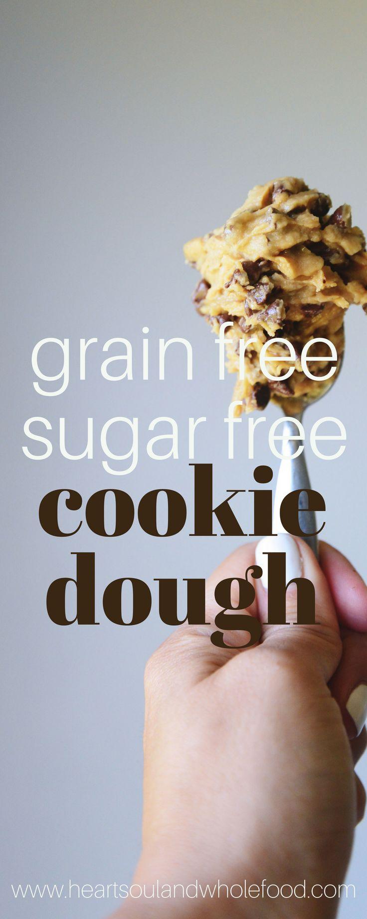 This grain free sugar free cookie dough recipe is amazing. Gluten free cookie dough recipe. Egg free cookie dough recipe.