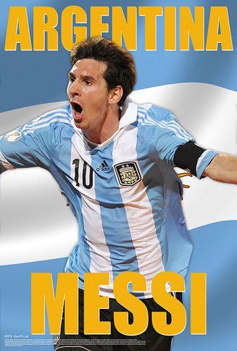 Lionel Messi Argentina Action World Cup 2014 Goal Celebration Soccer Poster - Starz