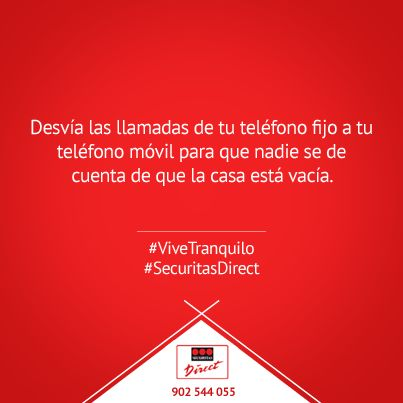 Desvía las llamadas de tu teléfono fijo al móvil para que nadie sepa que no estás en casa #ViveTranquilo