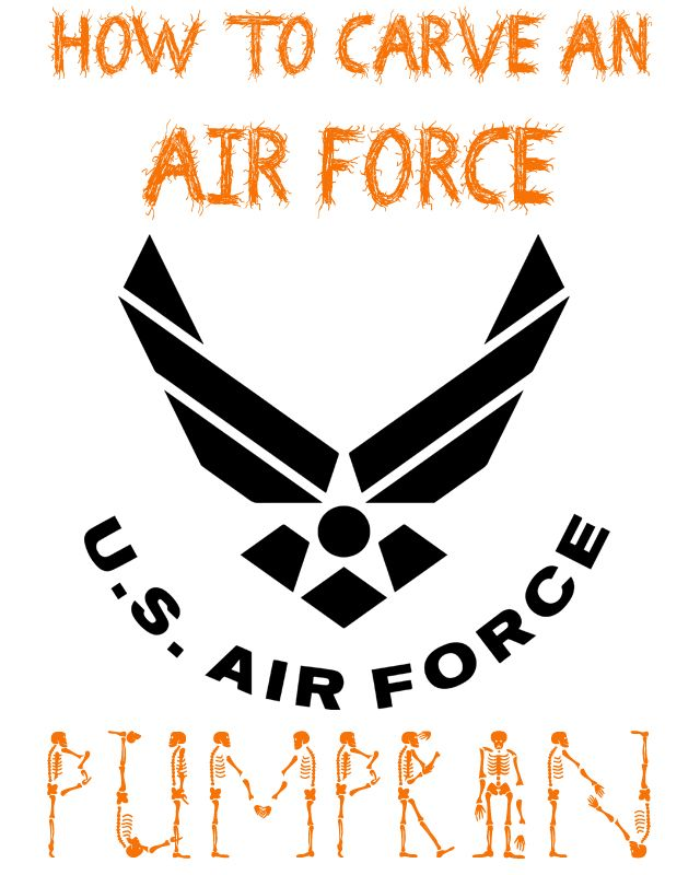 Click here to download a free printable template and carve your own Air Force pumpkin!