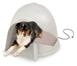 Lectro-Soft Igloo Style Heated Pet Bed - The only soft, heated bed that is designed to fit the Dogloo or Indigo @ http://www.petstreetmall.com/Heated-Dog-Beds/465.html