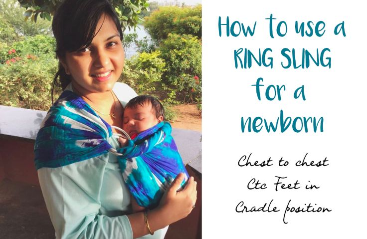 Ring Sling Tutorial - How to use a ring sling with a newborn