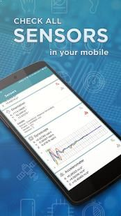 Get full information about all sensors supported by your tablet, smartphone or wearable device.