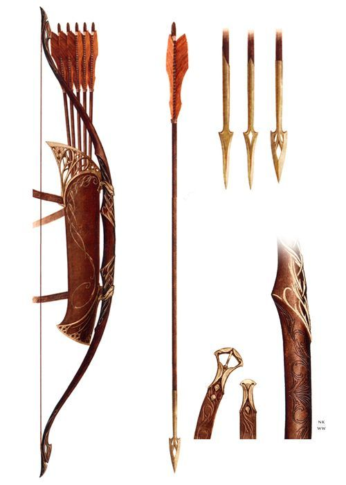 Reminds me of lotr :) I love the quiver! And the bow! And- you know what, I just love it.