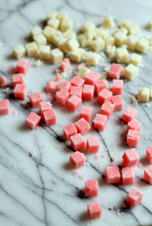 DIY cocktail bitters sugar cubes in Angostura, Lavender & Peychauds bitters via Mint Love Social Club