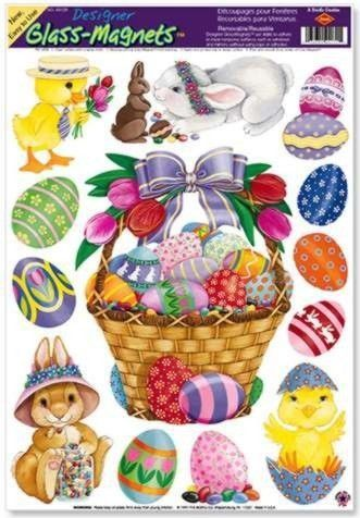 """Easter Basket & Friends Clings (8 Easter eggs included) Party Accessory  (1 count) (5/Sh) Unknown. Save 30 Off!. $3.49. Measures: 12"""" x 17"""" Sh"""
