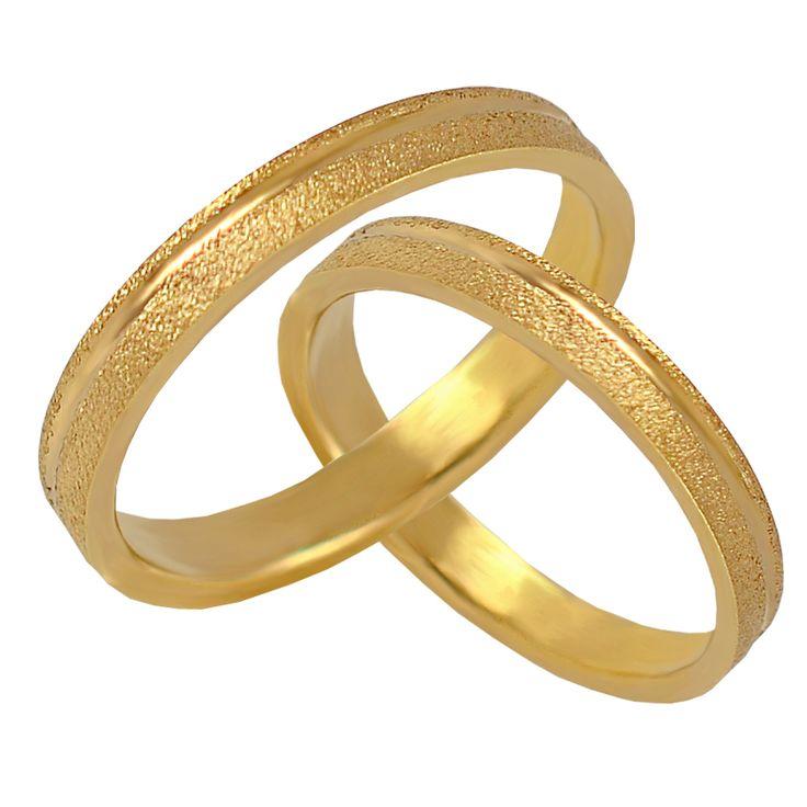 V66-576-30Κ Χρυσή βέρα γάμου από 226 € το ζευγάρι.