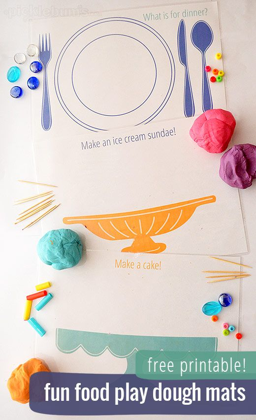 Fun Food Play Dough Mats - picklebums.com
