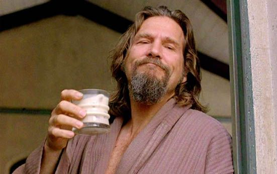 "Cocktail of the Week: The Dude's Caucasian | ""It's a play on the White Russian — what the Dude [from The Big Lebowski] would drink. It's something I wanted to have as a dessert drink, since it's richer in style. It's the kind of drink that you have once in a while, but I've seen people drink four or five in a night. You don't wanna do a total White Russian, which is half and half [vodka and cream]. I only top it with a splash of cream and a splash of club soda, which has this salting agent…"