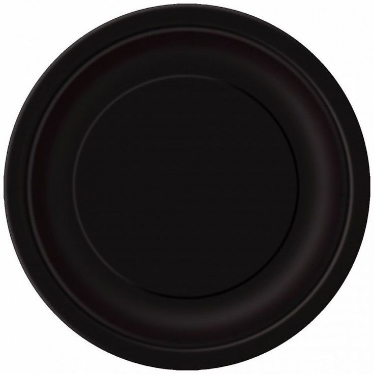 Halloween Black Plates Party 23cm Pack of 16