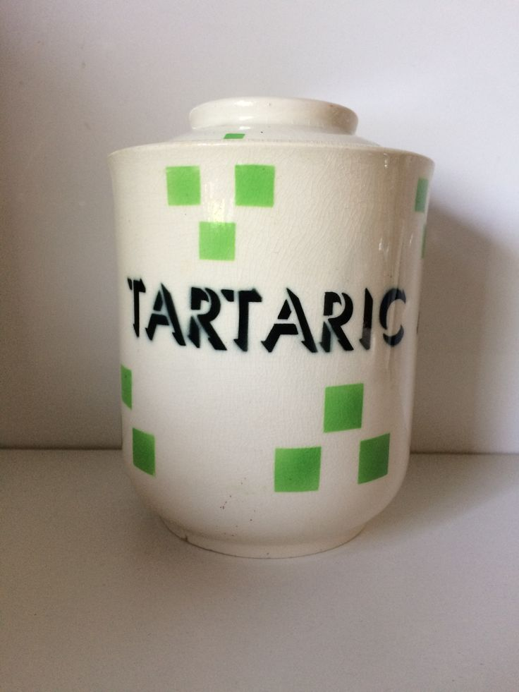 T.G.Green 'Checkers' Tartaric Acid Jar